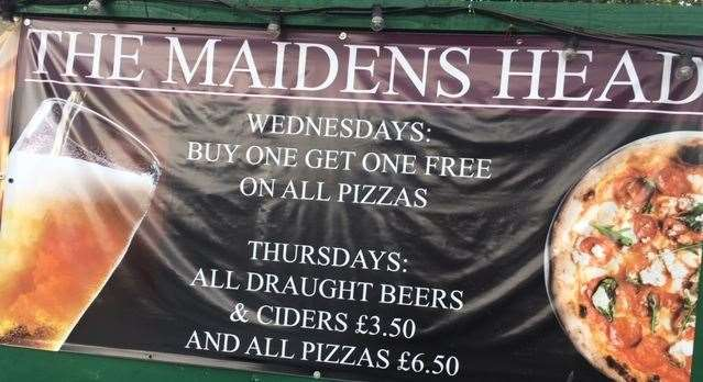The Maiden's Head has plenty of special offers