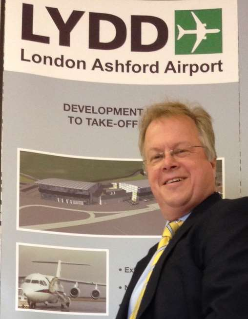 Charles Buchanan pictured at Lydd airport, where he has been appointed chief executive