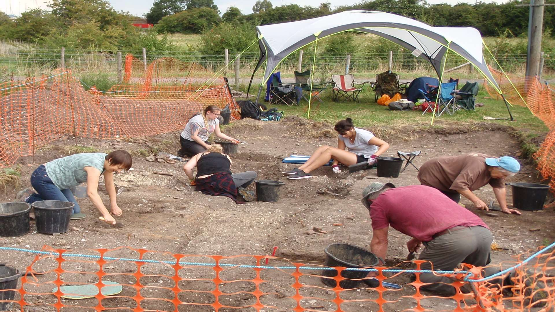 Ongoing excavation have uncovered evidence of an emporium serving the port at Faversham.