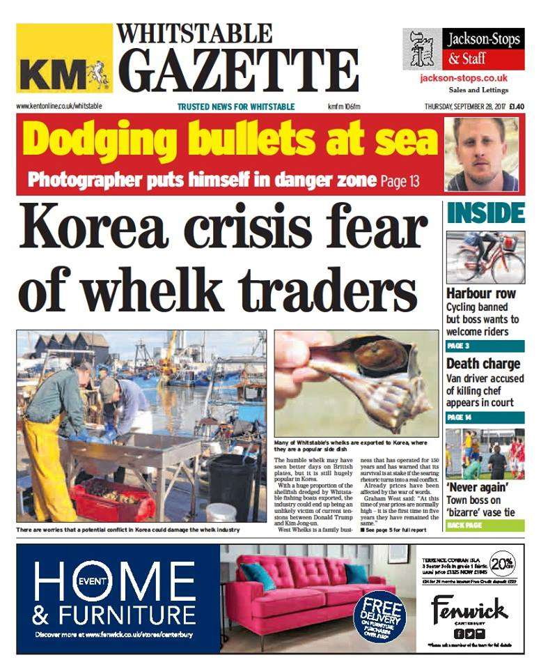 The Whitstable Gazette publishes every Thursday
