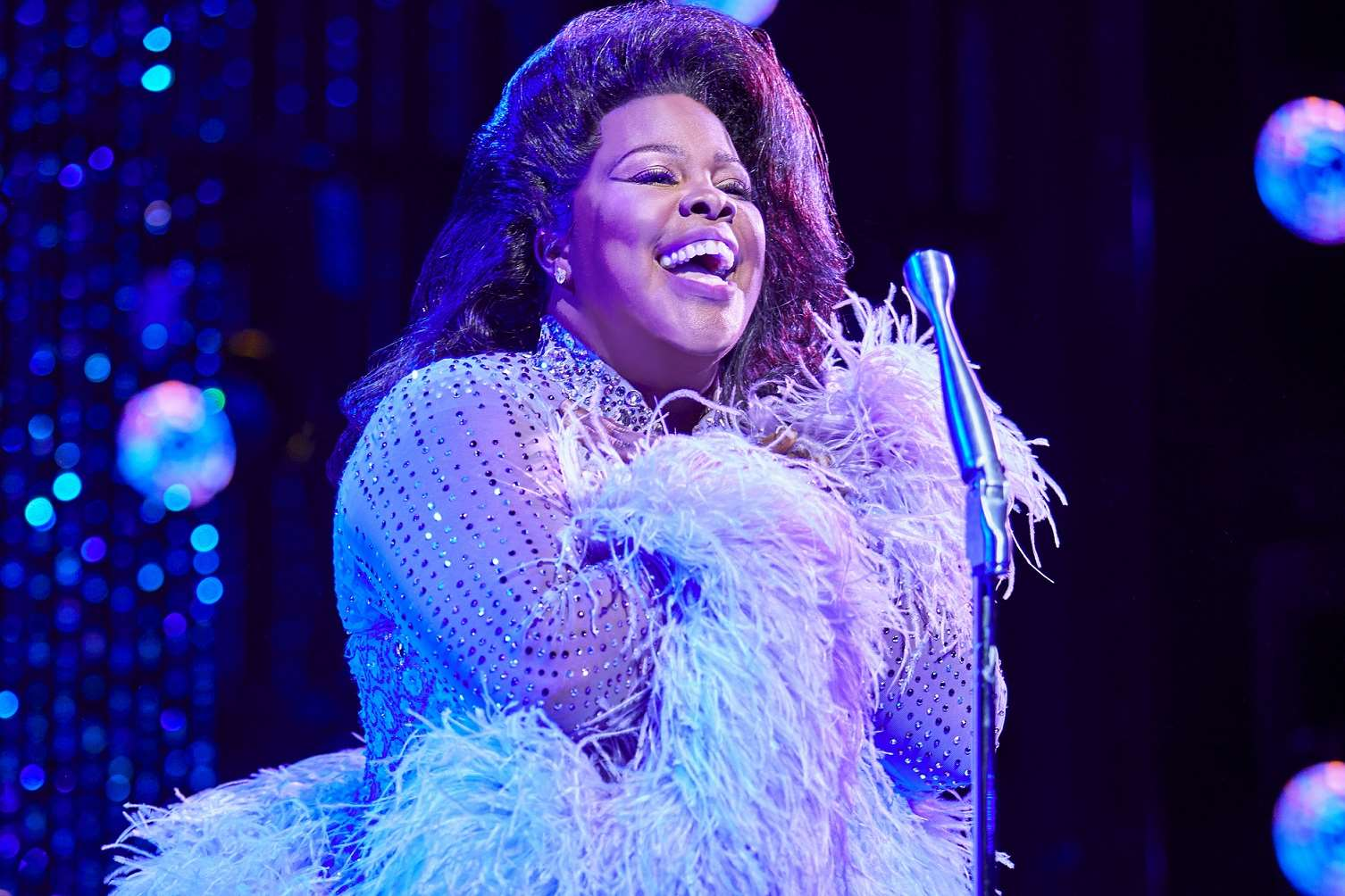 Amber Riley in Dreamgirls at the Savoy Theatre. Credit: Brinkhoff & Mögenburg