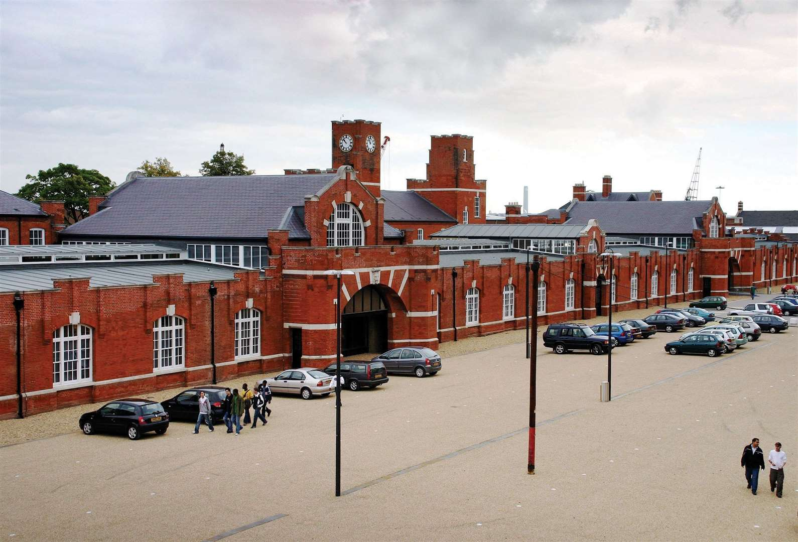 The Drill Hall library at the University of Kent at Medway's Chatham Maritime campus