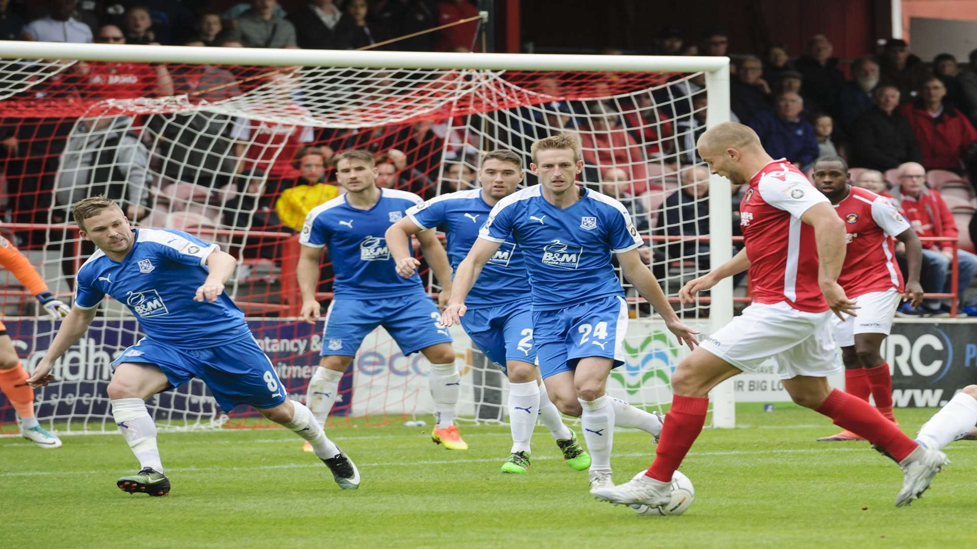 Ebbsfleet are now competing with the likes of Tranmere Picture: Andy Payton