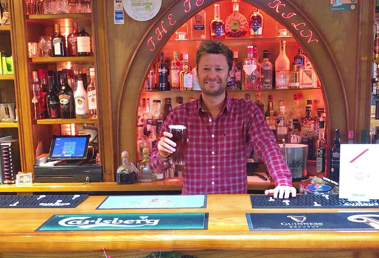 Allister Collins is ready to offer £2 pints (5850345)