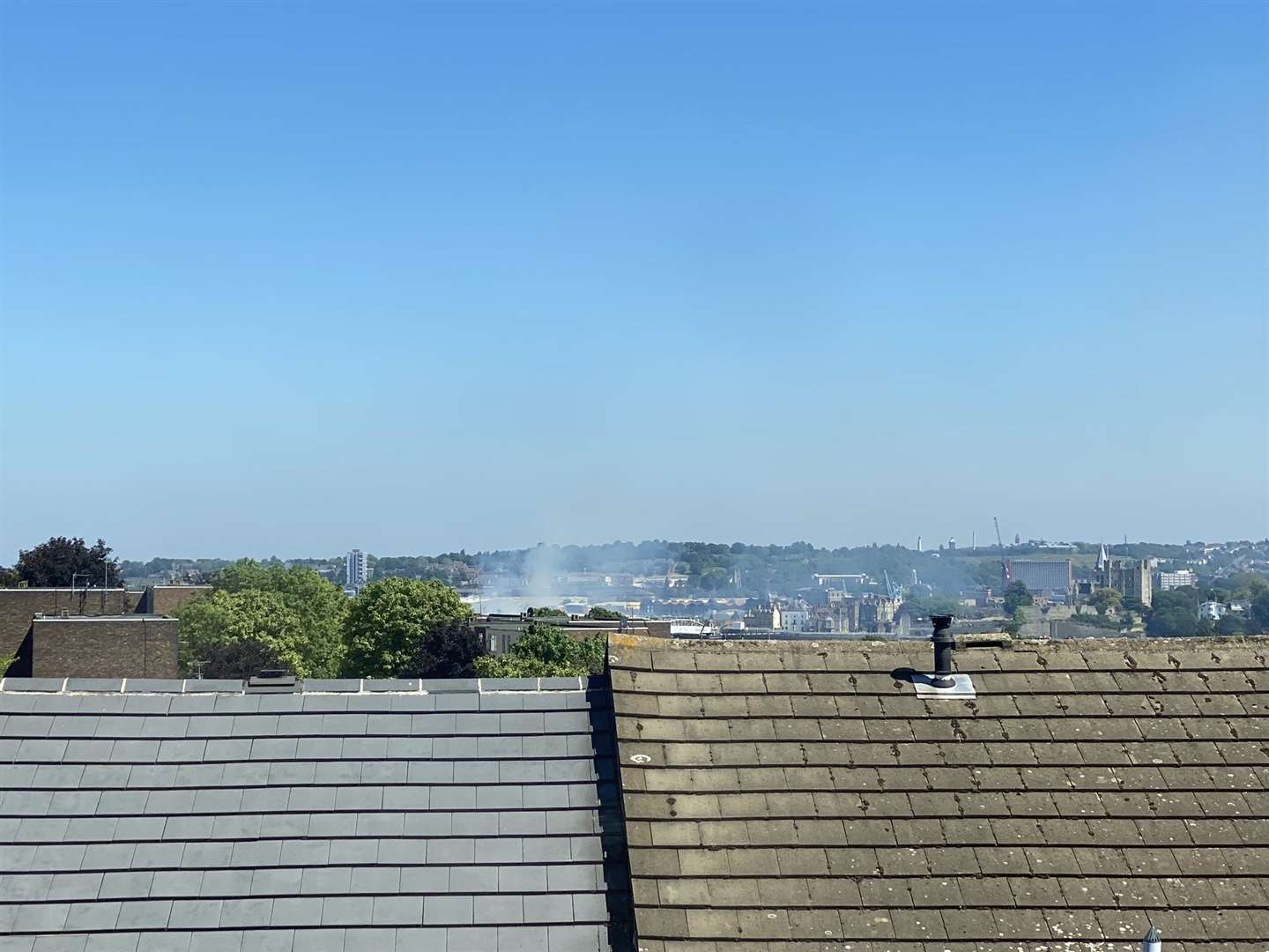 Smoke can be seen from miles away. Photo: Sammy Carter