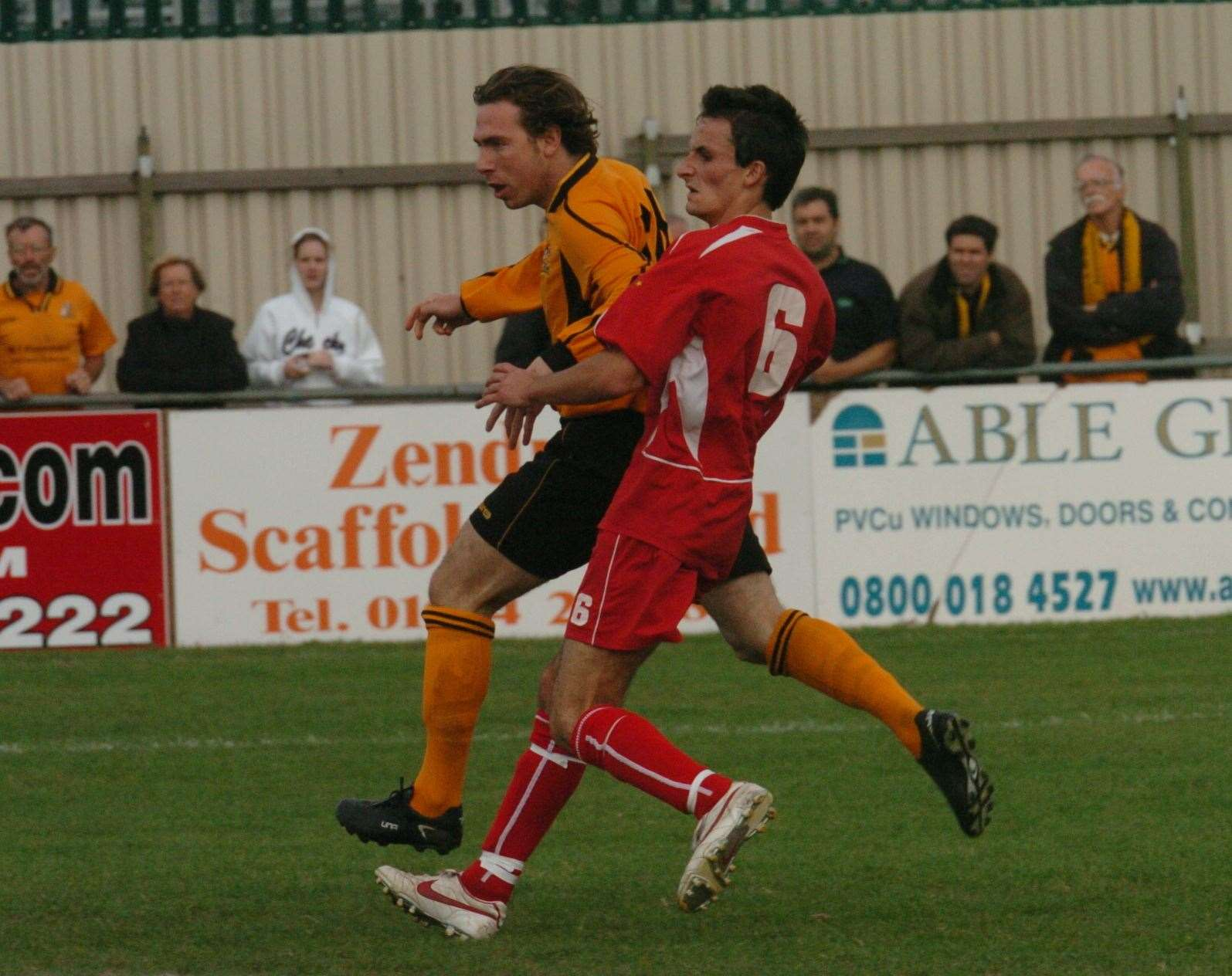 Simon Austin in action for Maidstone against Greenwich at Bourne Park Picture: Mike Smith