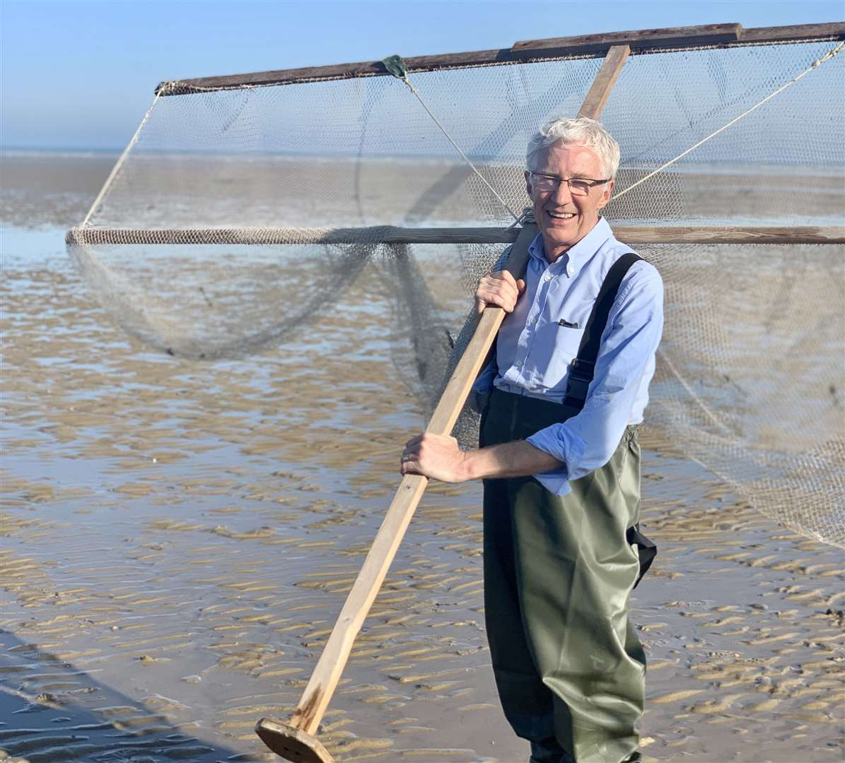 Paul O'Grady heads to Dungeness beach, to go 'shrimping'Picture: Olga Productions/ITV