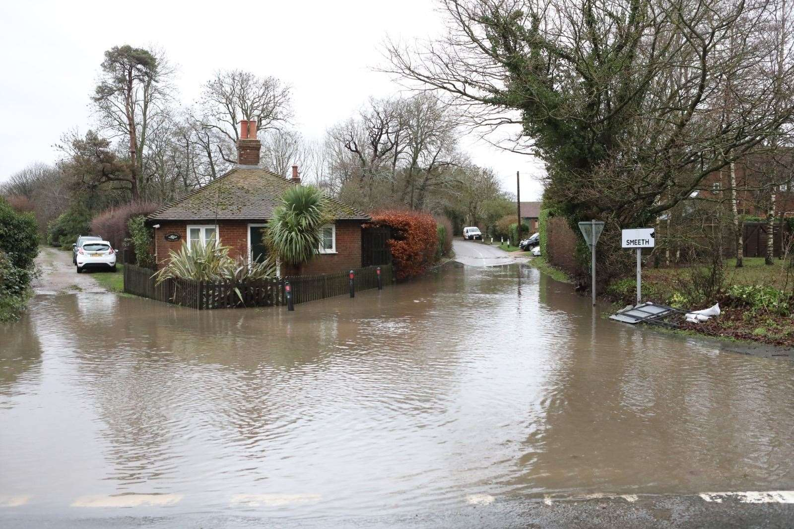 Roads near riversides across Kent could be hit by flooding. Archive picture: UKNIP