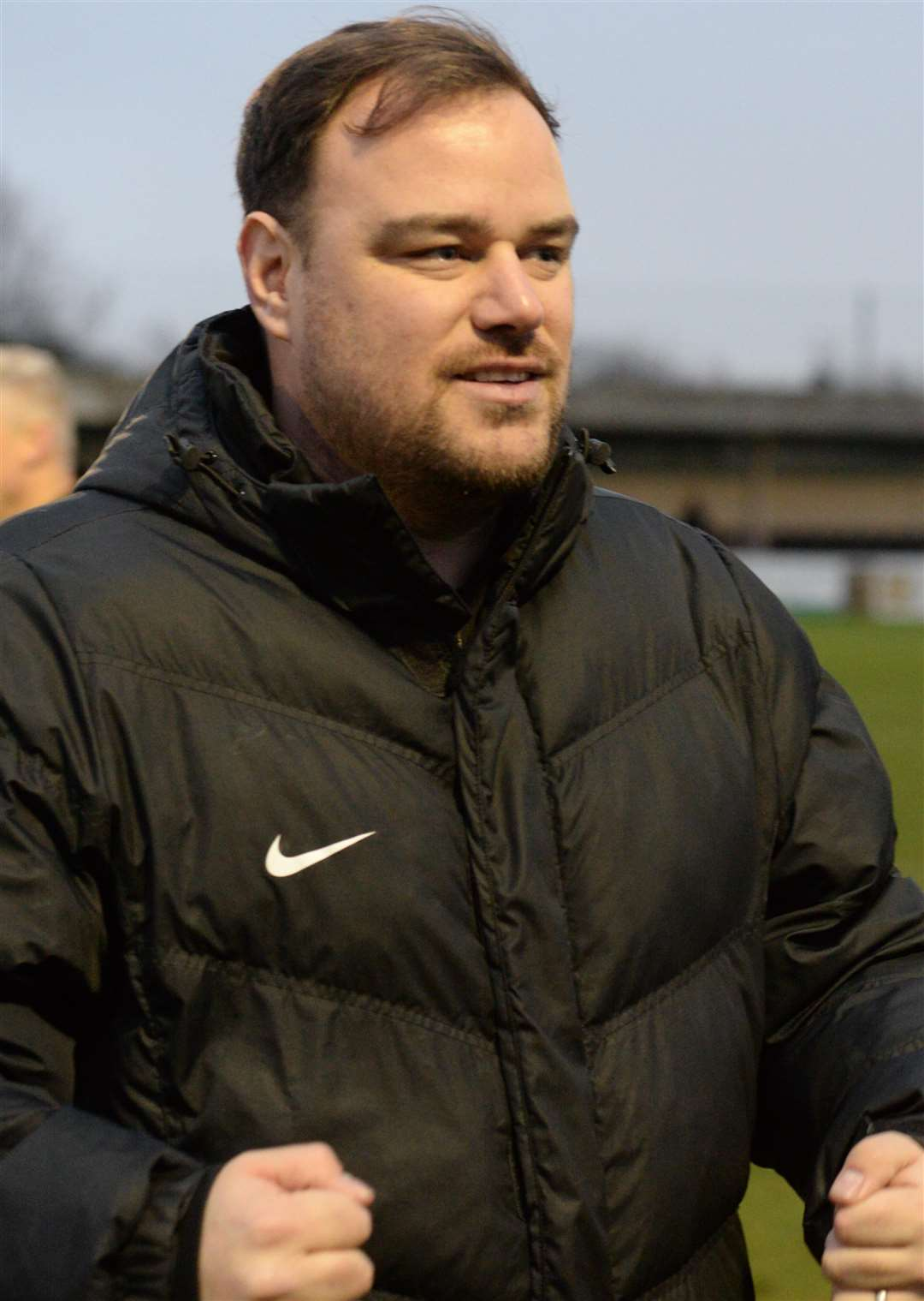 Canterbury manager Ben Smith after the 3-2 win against Newport Pagnell Picture: Chris Davey
