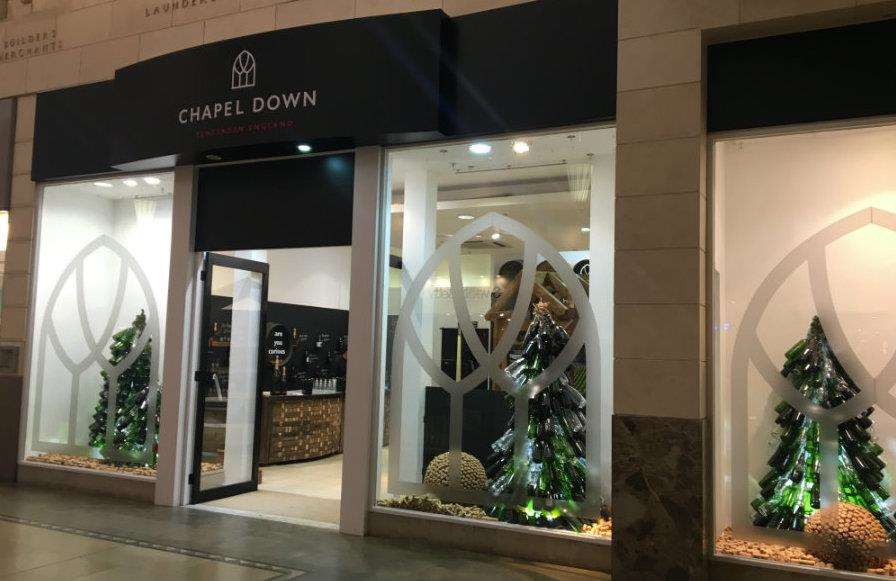 Chapel Down has opened its seasonal shop in Bluewater again