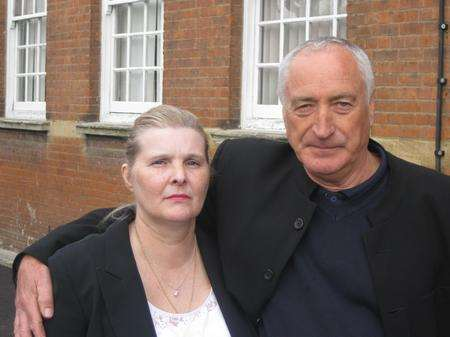 Parents of Jason Murray, Angela and Stephen standing outside Gravesend Coroner's Court