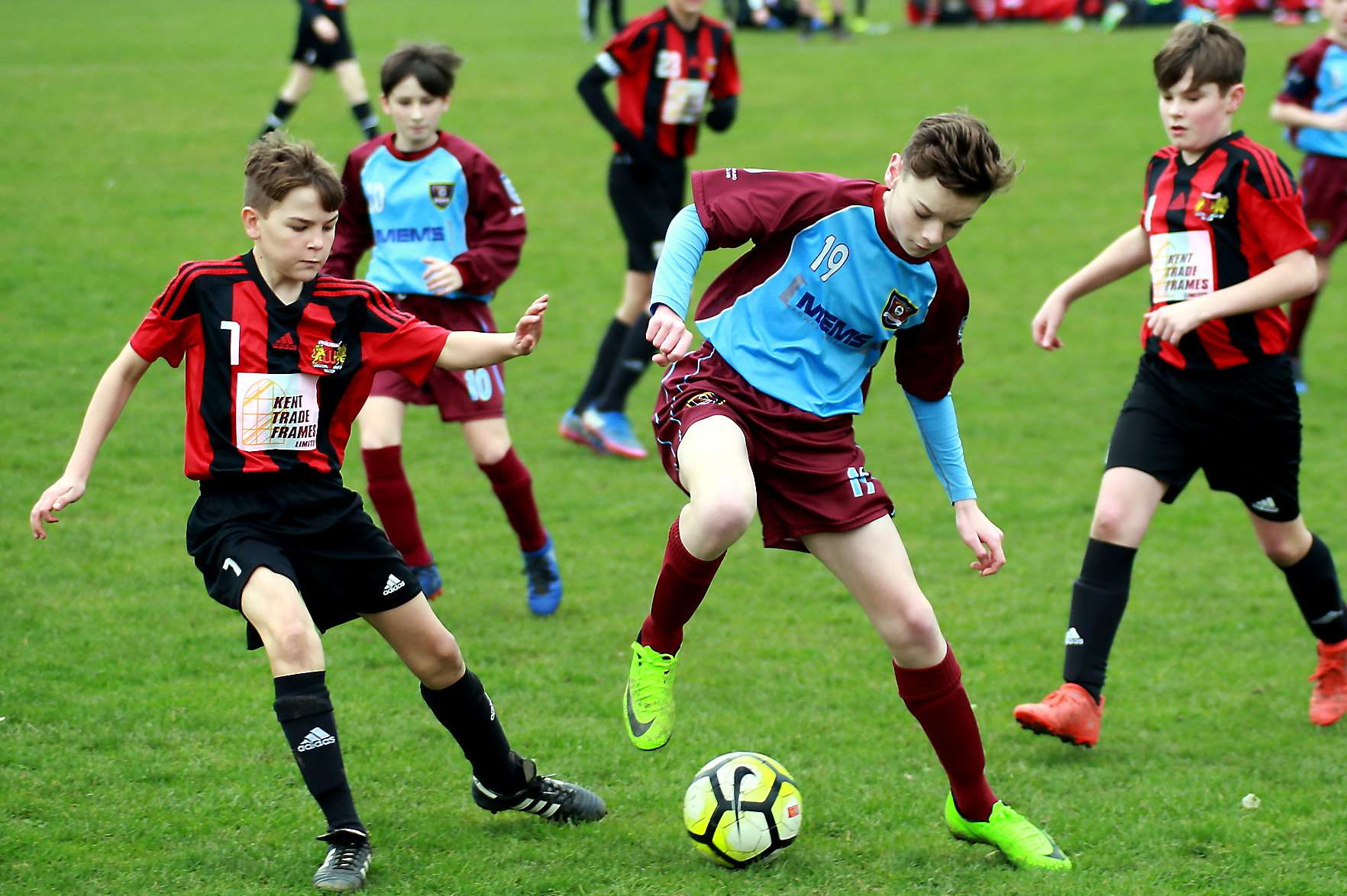 Woodcoombe Youth under-13s try some trickery against Wigmore Youth in Division 1 Picture: Phil Lee