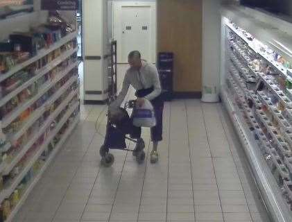 Stealing from a store in Whitstable. Pic: Kent Police