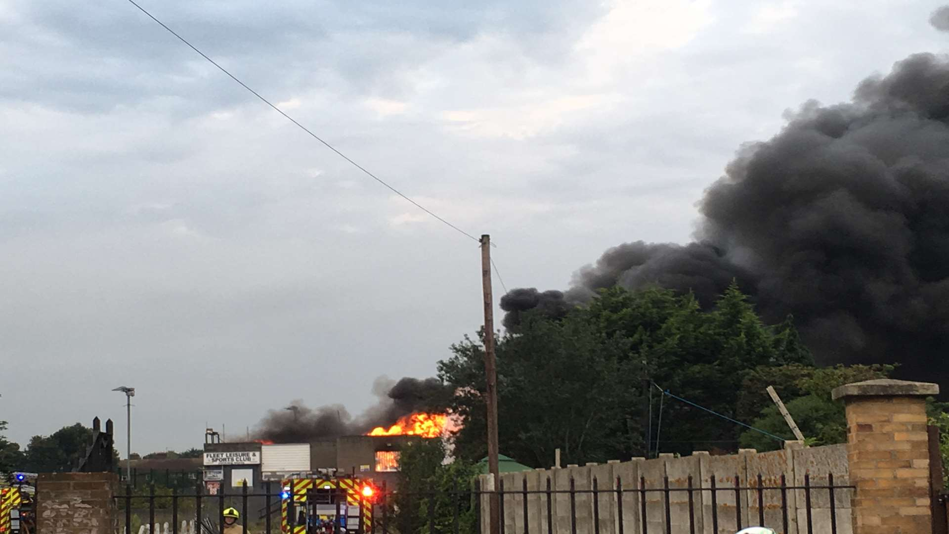 Firefighters tackled the blaze from several angles. Picture: Lucy Hickmott