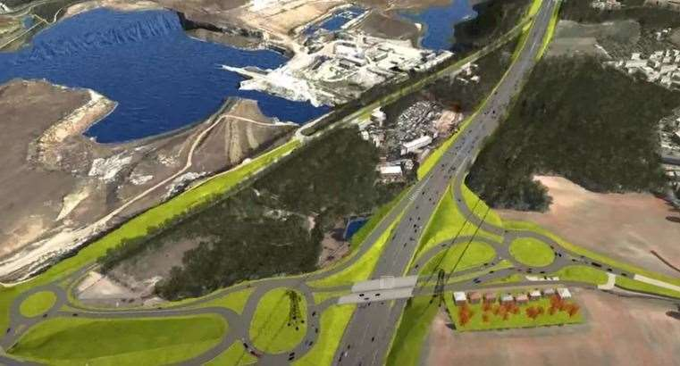 An artist's impression of what the junction improvements and new flyover will look like Photo: Highways England
