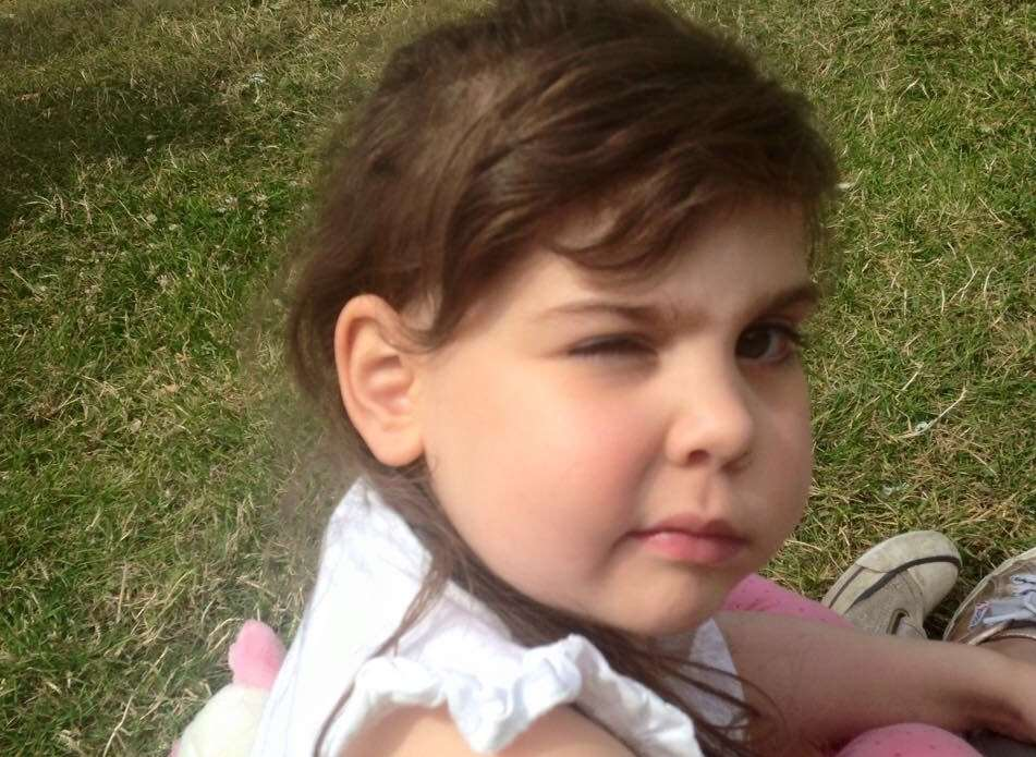 A brain tumour claimed the life of five-year-old Eva