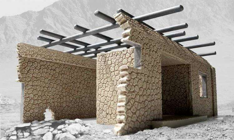 The controversial Airfix model of a bombed Afghan house