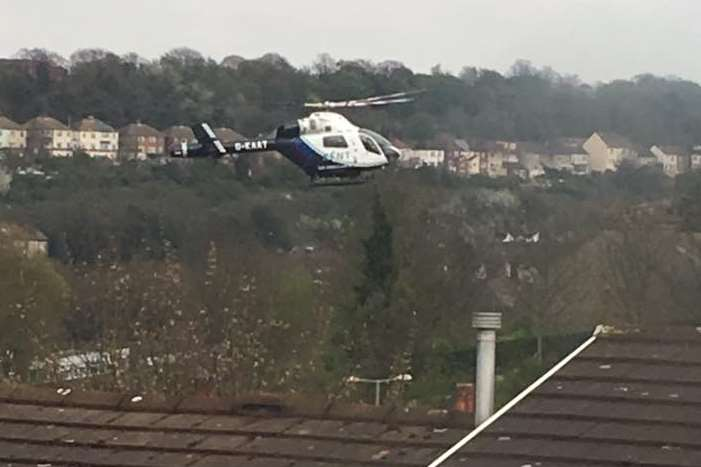 The air ambulance was called to the scene. Picture: Connor Cass