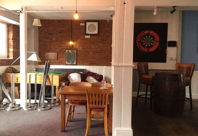 Sadly pushed to one side for the time being, there is a pool table, darts and my personal favourite, a bar billiards table