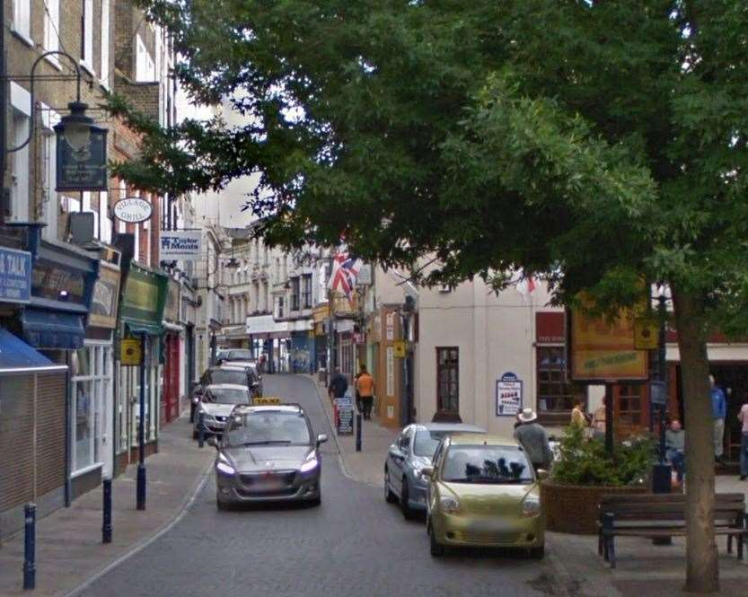 The disturbance happened in Harbour Street in Ramsgate. Picture: Google Street View. (20129120)