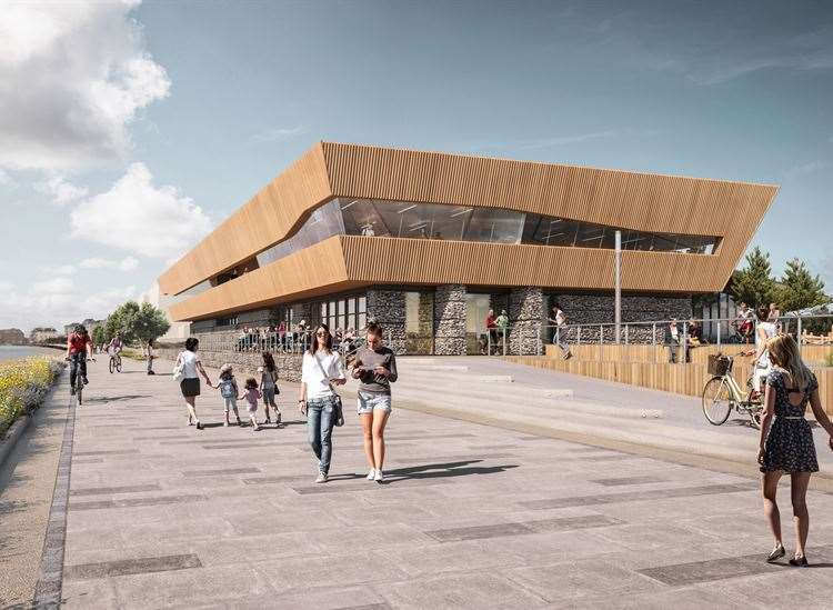 Artist's impression of the proposed new leisure centre