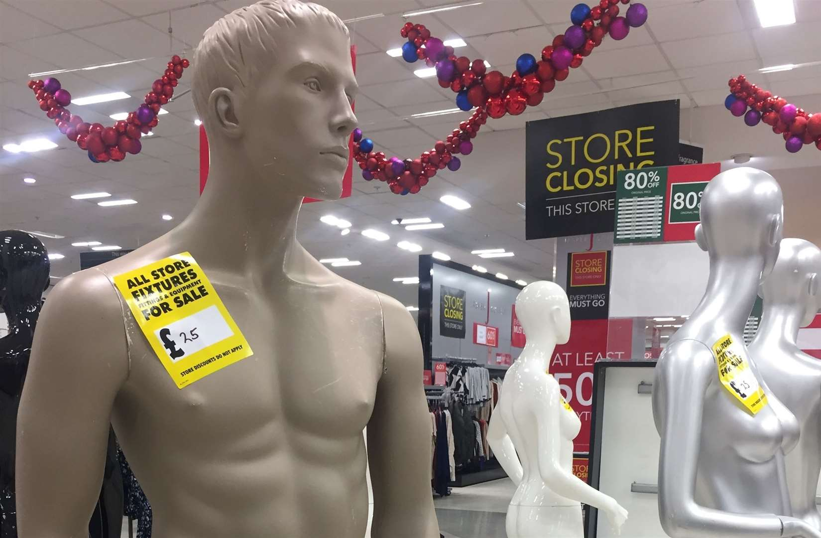 Mannequins on sale at the Ashford Debenhams