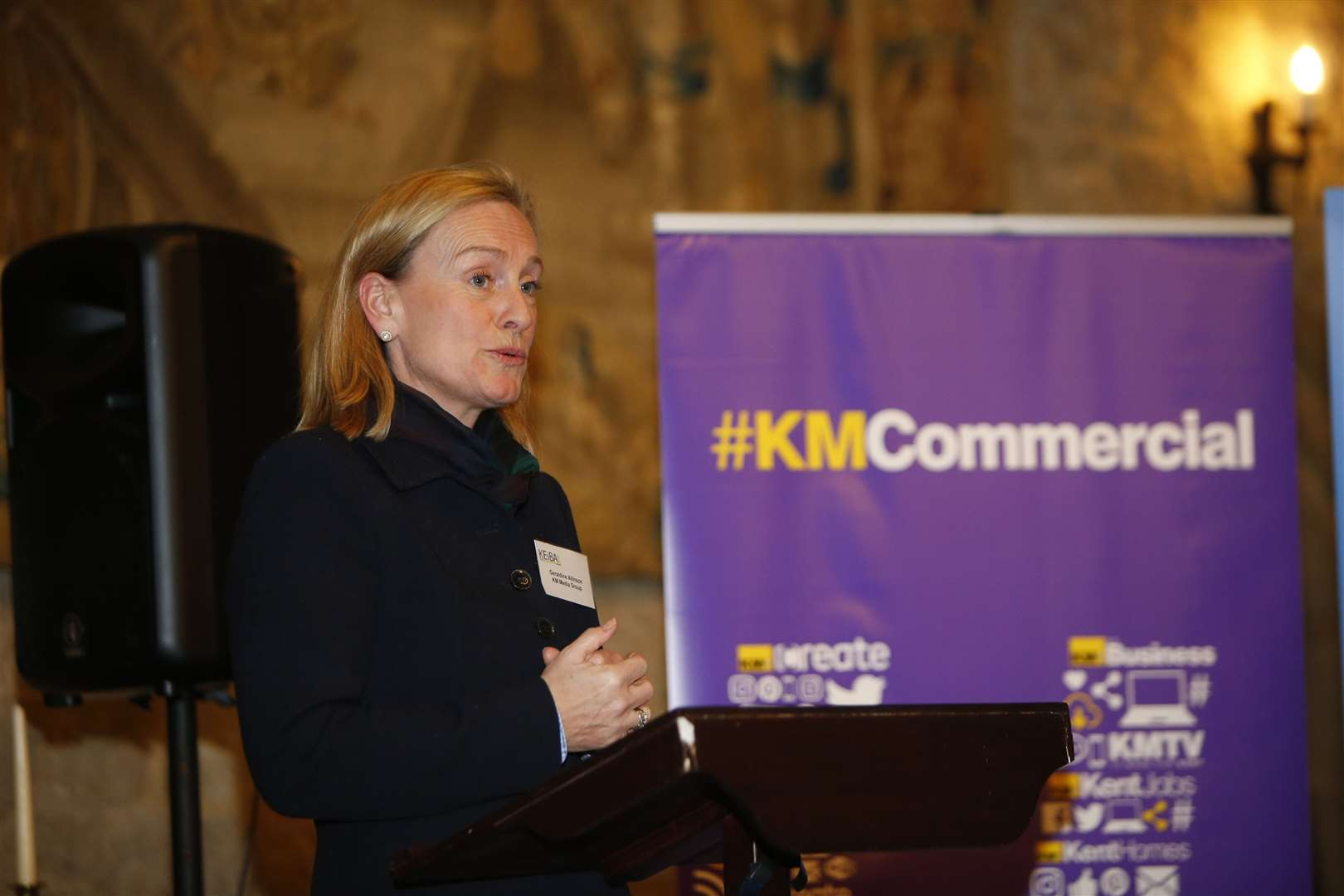 KM Media Group chairman Geraldine Allinson at the launch event for KEiBA 2019 at Allington Castle