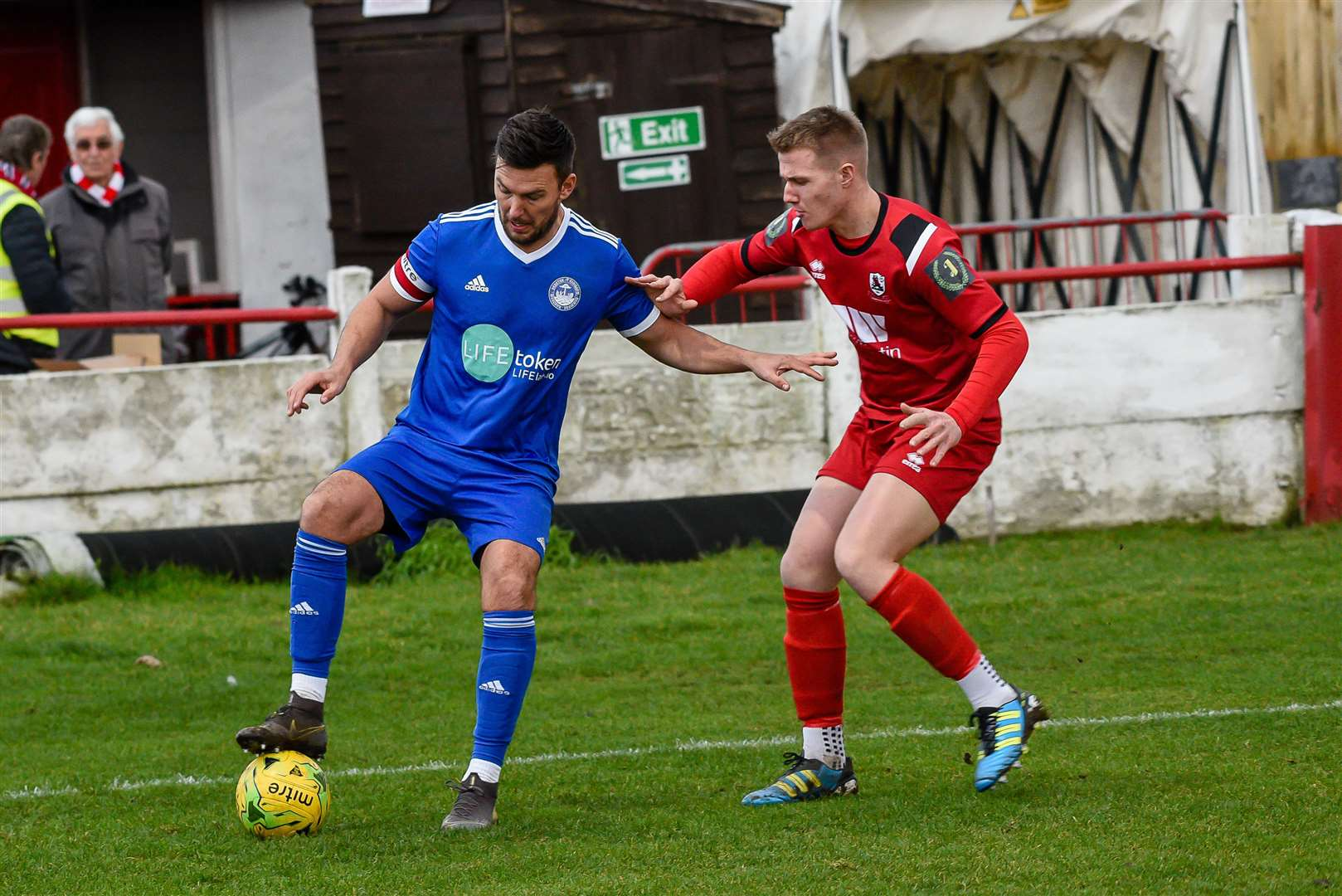 Jamie Coyle was playing for Isthmian South East side Hythe Town last season Picture: Alan Langley