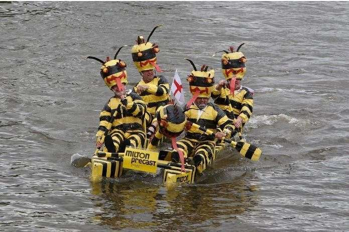 The Milton Precast team had clearly been bust preparing their raft entry