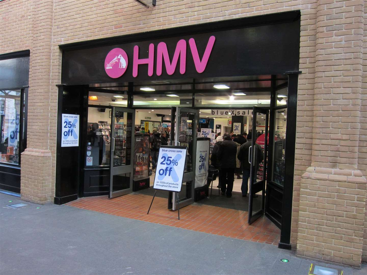 The HMV store in Canterbury