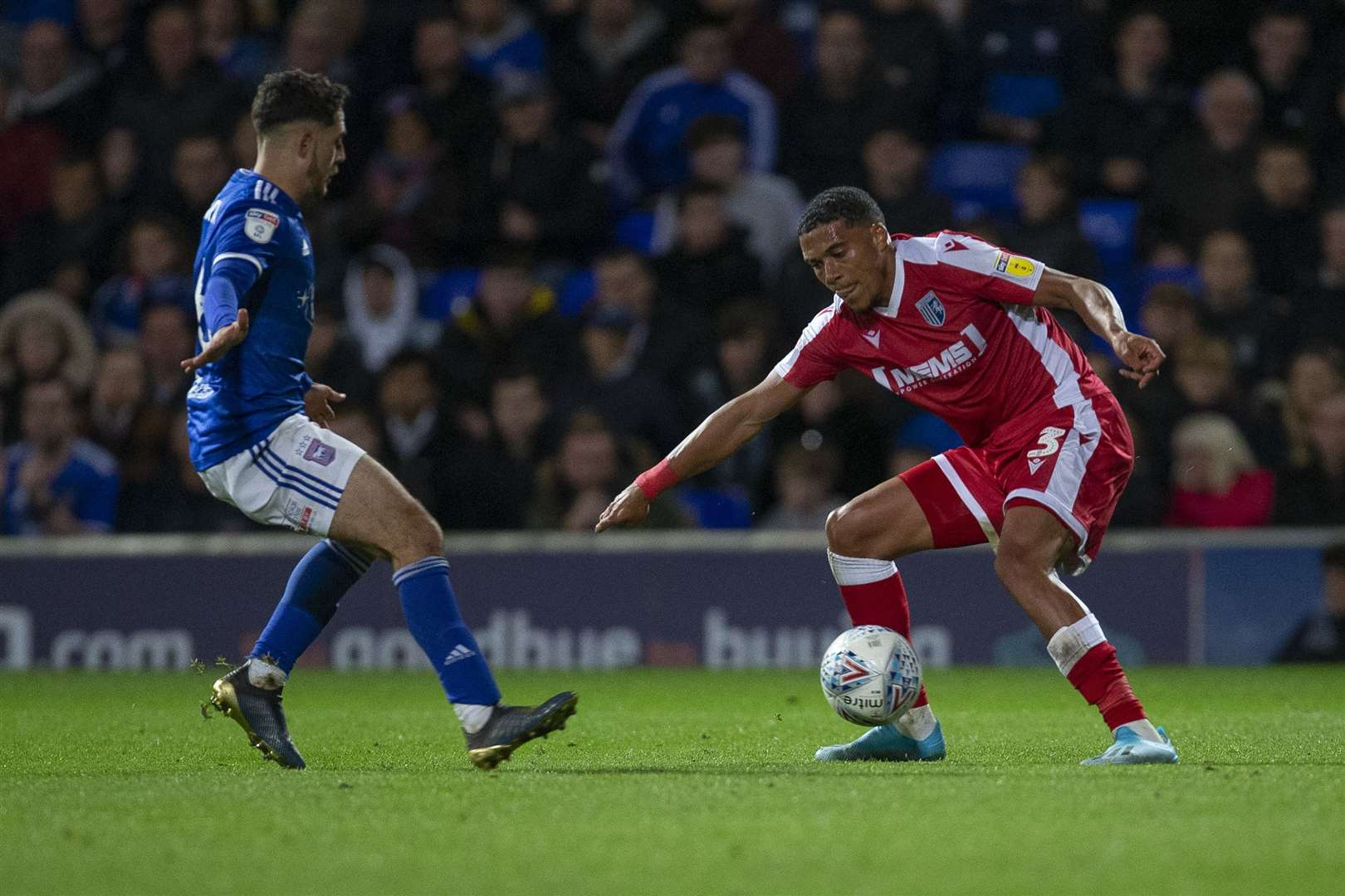 Bradley Garmston making his first appearance for the Gills this season, at Ipswich, on Tuesday Picture: @KentProImages