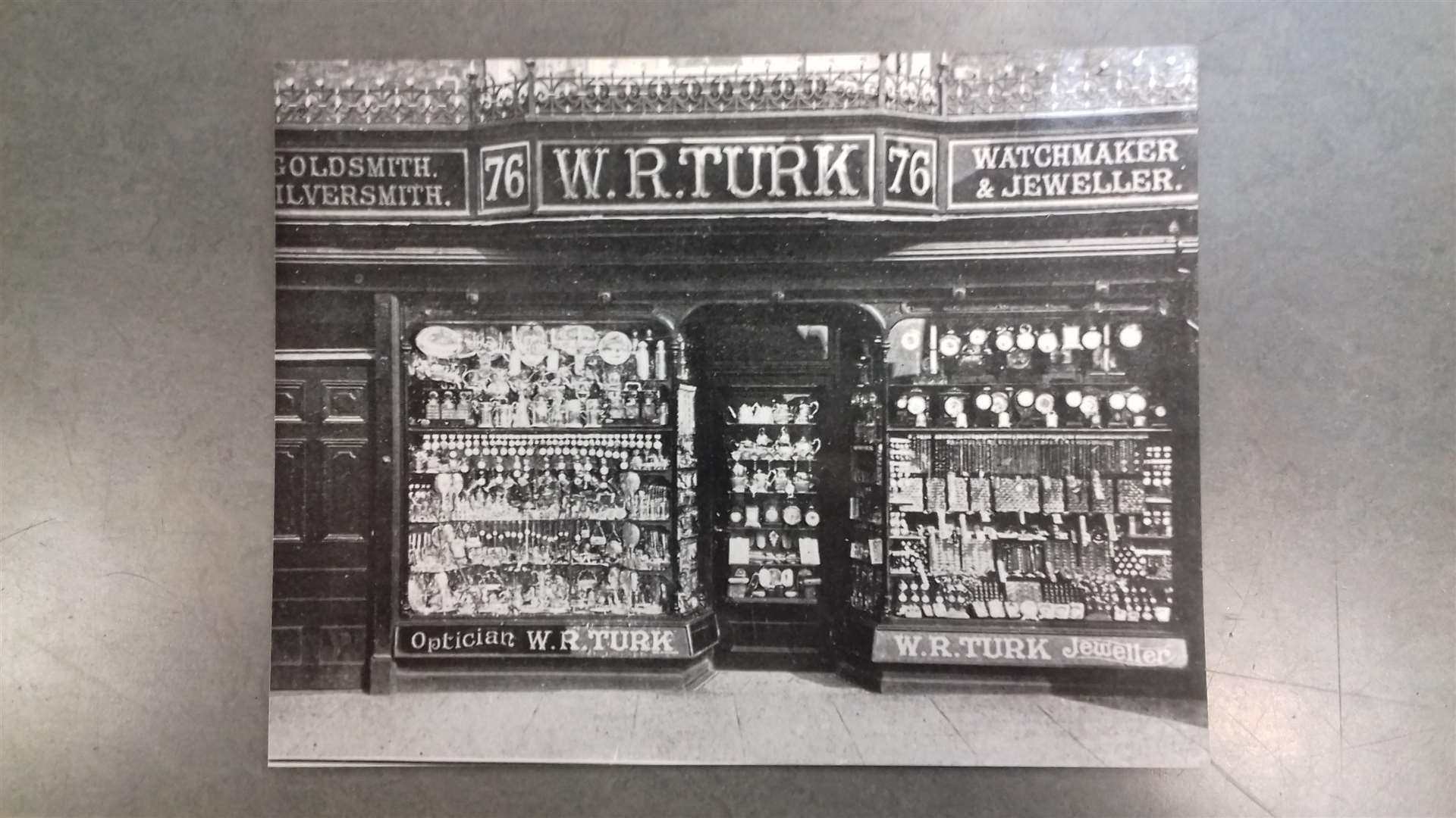 William Turk's shop at 76 High Street