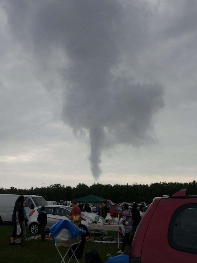 Melanie Smith captured this picture of a funnel cloud from Tilmantstone boot fair