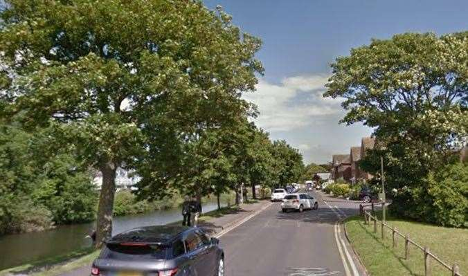 The crash happened in Portland Road, Hythe. Picture: Google maps