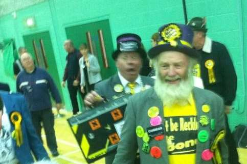 Monster Raving Loony Party candidate Hairy Knorm