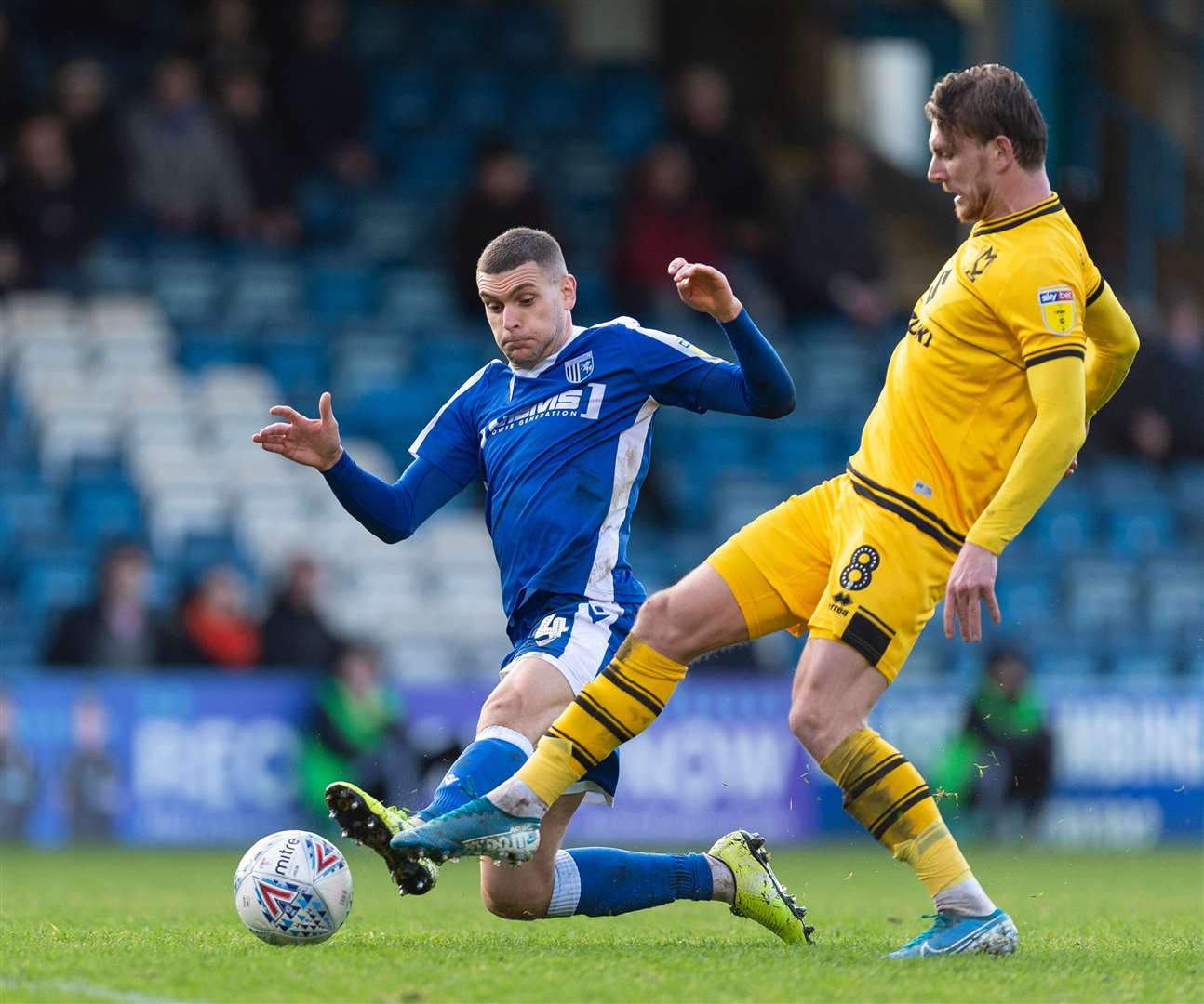 League 1 player-of-the-month Alex Gilbey in action against the Gills Picture: Ady Kerry