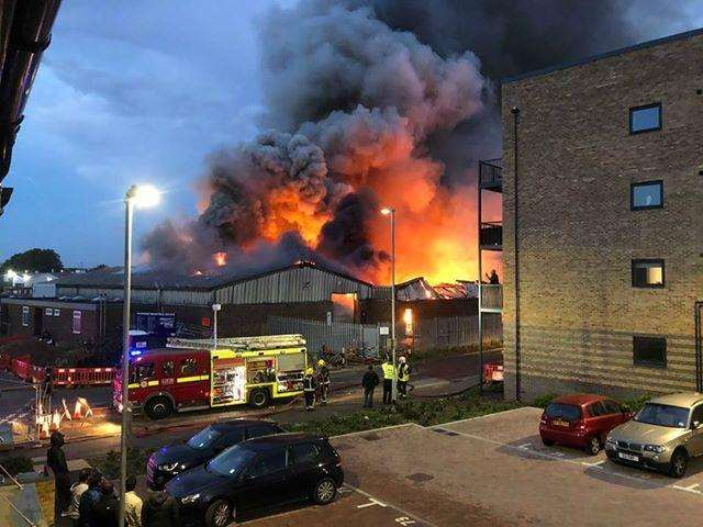 Ten fire crews are at the scene. Picture: Claire Wheeler (4732942)