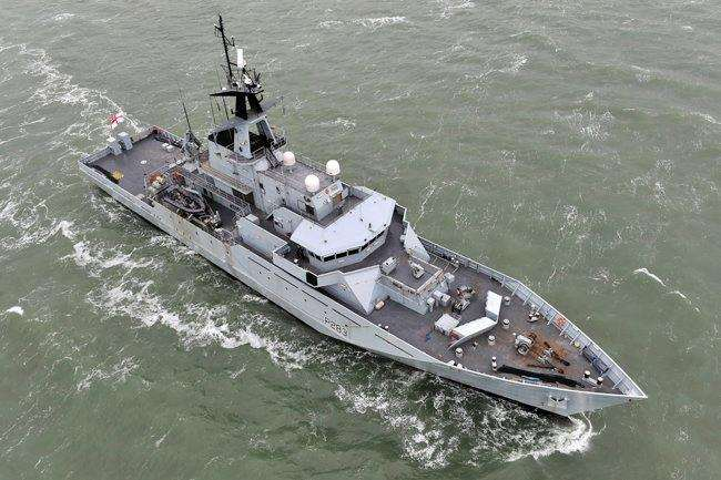 HMS Mersey is patrolling the Dover Strait. Picture: Royal Navy
