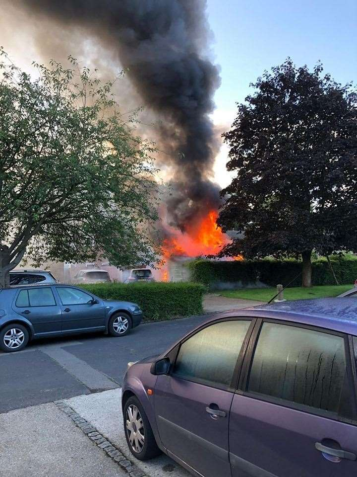 Watch The Moment A New Ash Green Garage Explodes