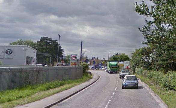 The crash has partially blocked Forstal Road. Picture: Google Maps