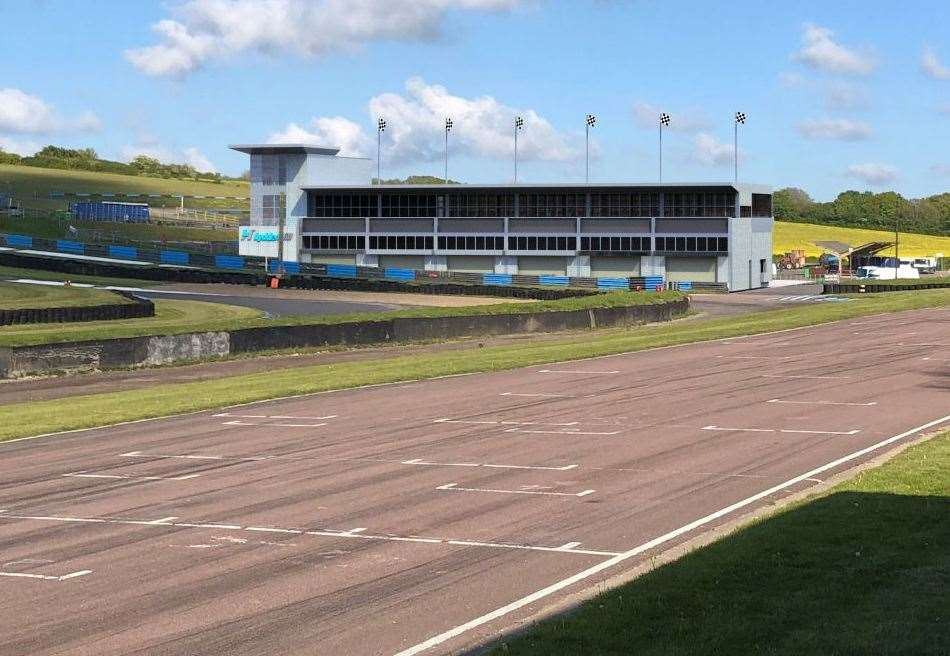 Artists's impression of the circuit with the new building. Picture: Mike West of CAD Solutions, Dover