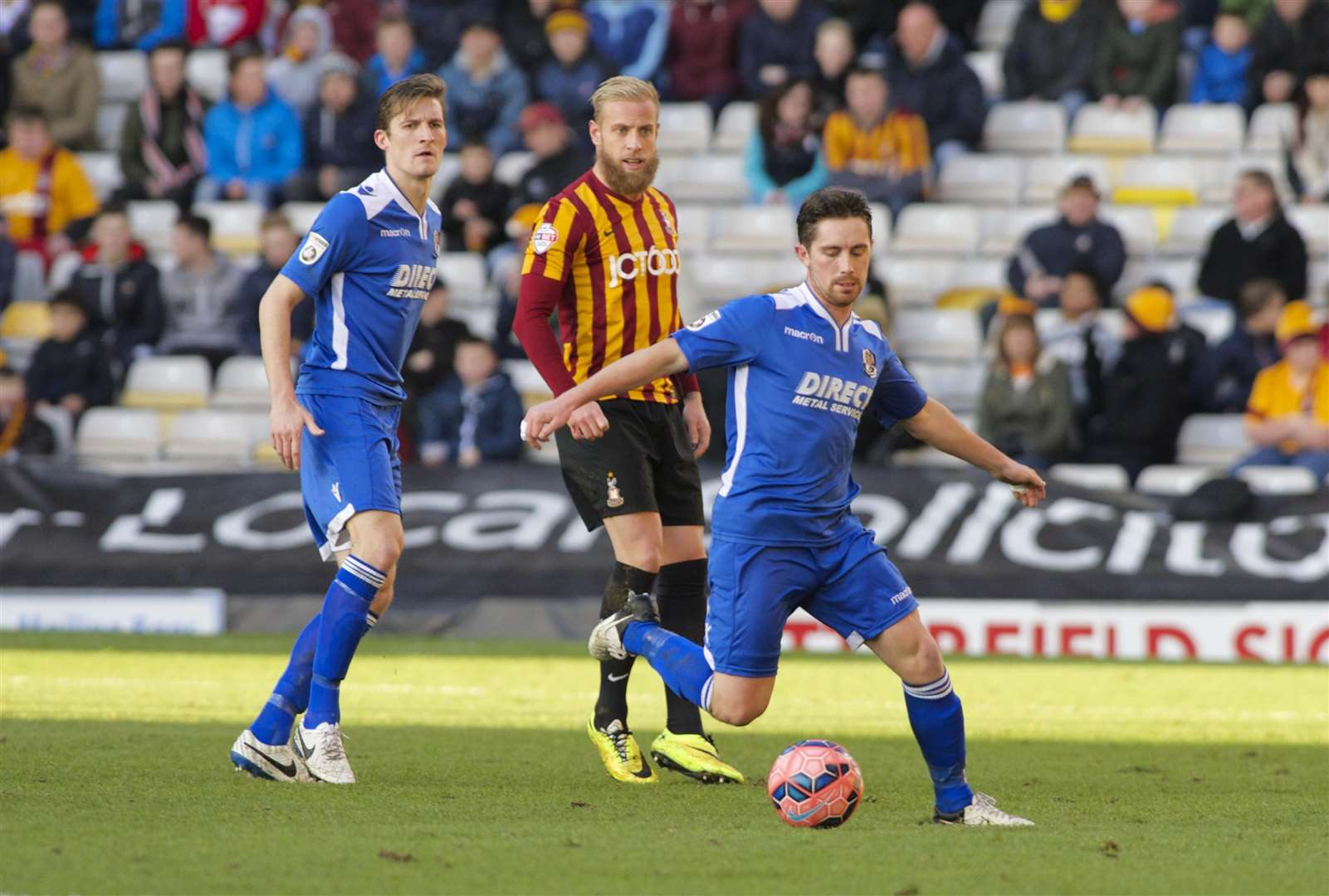 Lee Noble on the ball at Bradford Picture: Andy Payton