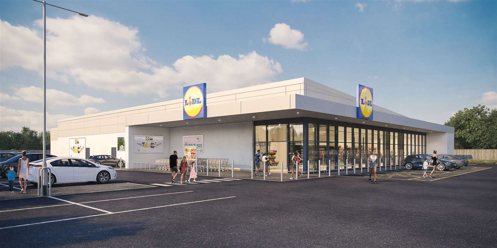 Artist impressions of what the multi-million pound development will look like if approved. Picture: Lidl UK