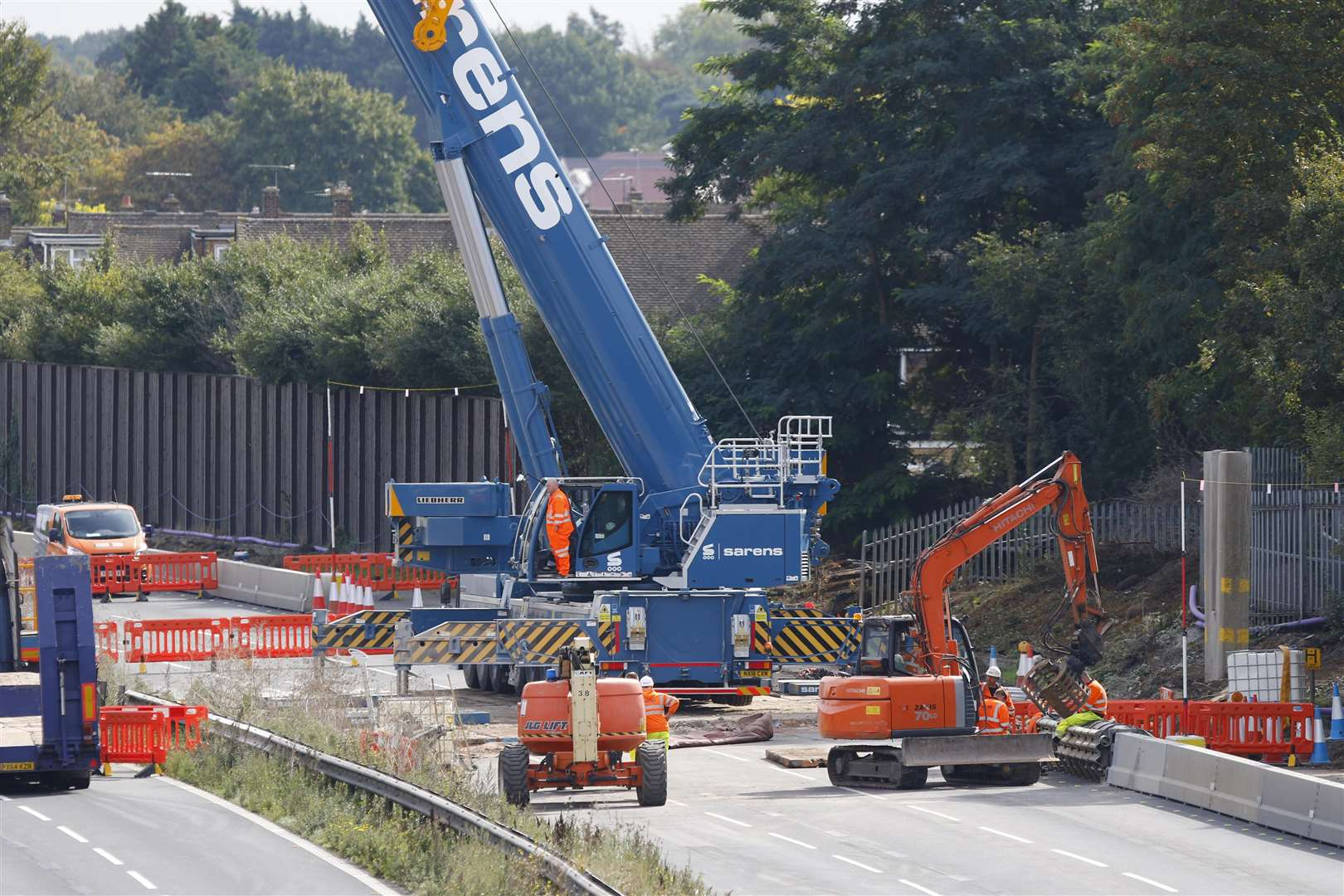 The dismantling of the footbridge is part of a project to turn the stretch of the M20 into a smart motorway. Picture: Andy Jones