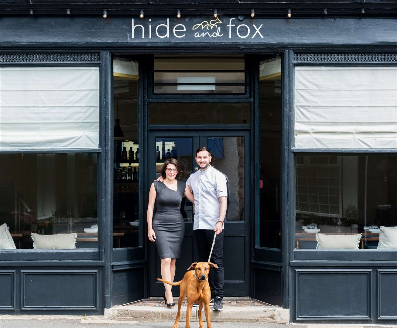 Couple Allister Barsby and Alice Bussi run the Hide and Fox. Picture: Karuna Clayton