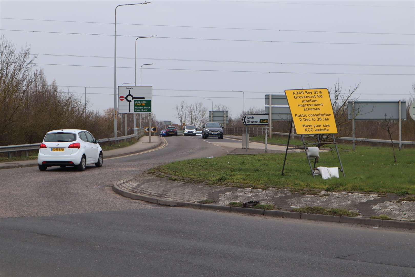 Grovehurst roundabout on the A249 at Iwade and Kemsley near Sittingbourne to be upgraded