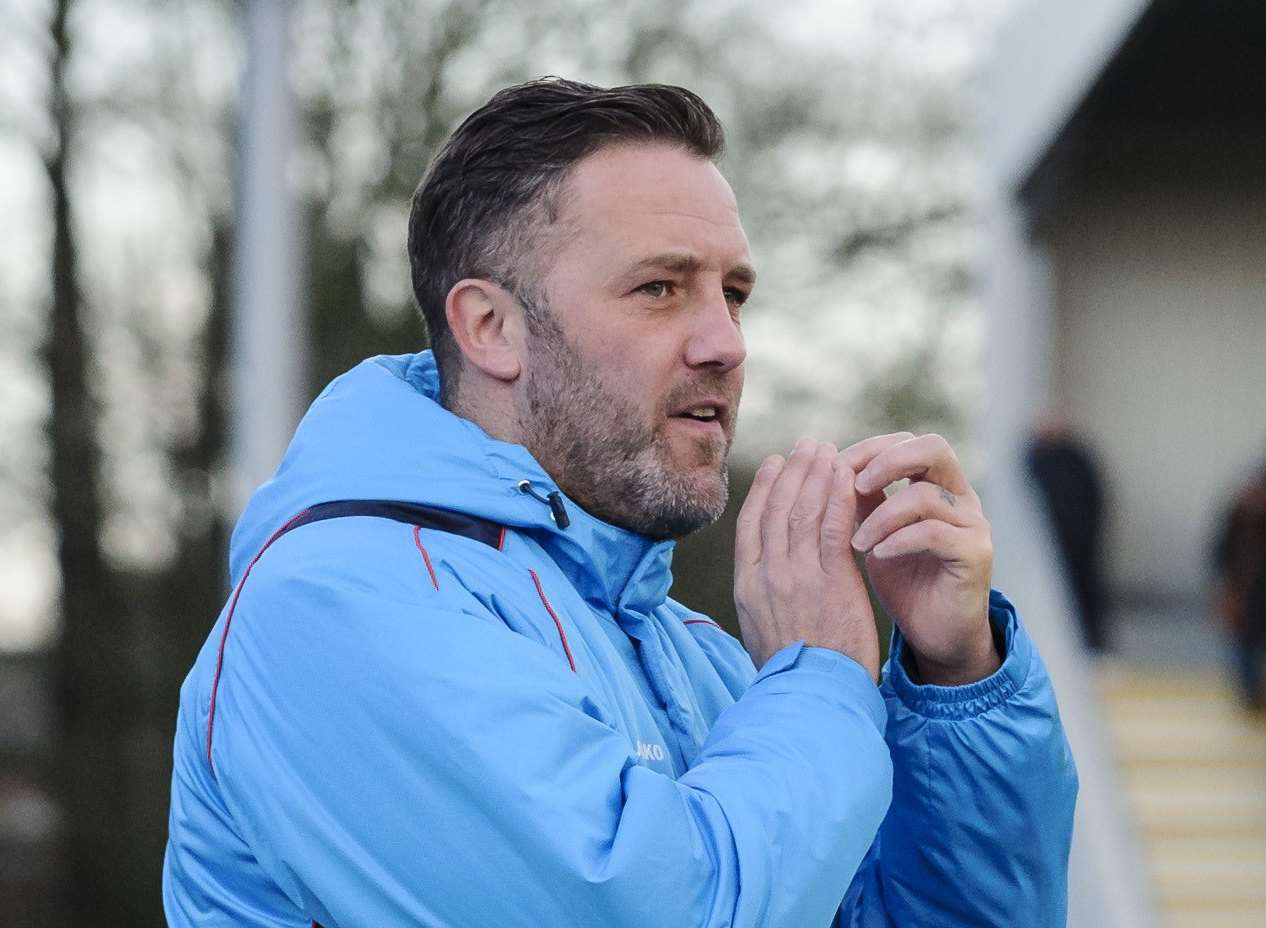 Maidstone United manager Jay Saunders Picture: Andy Payton