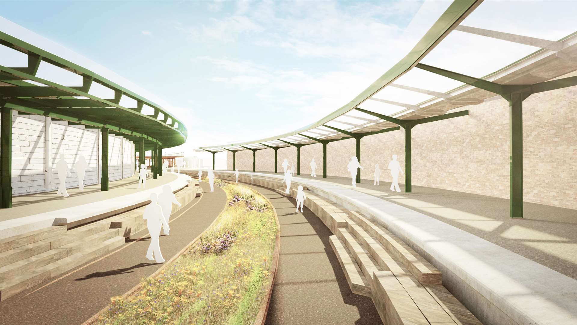 New plans revealed for the restoration of the old Folkestone Harbour Station. Picture: Folkestone Harbour Arm