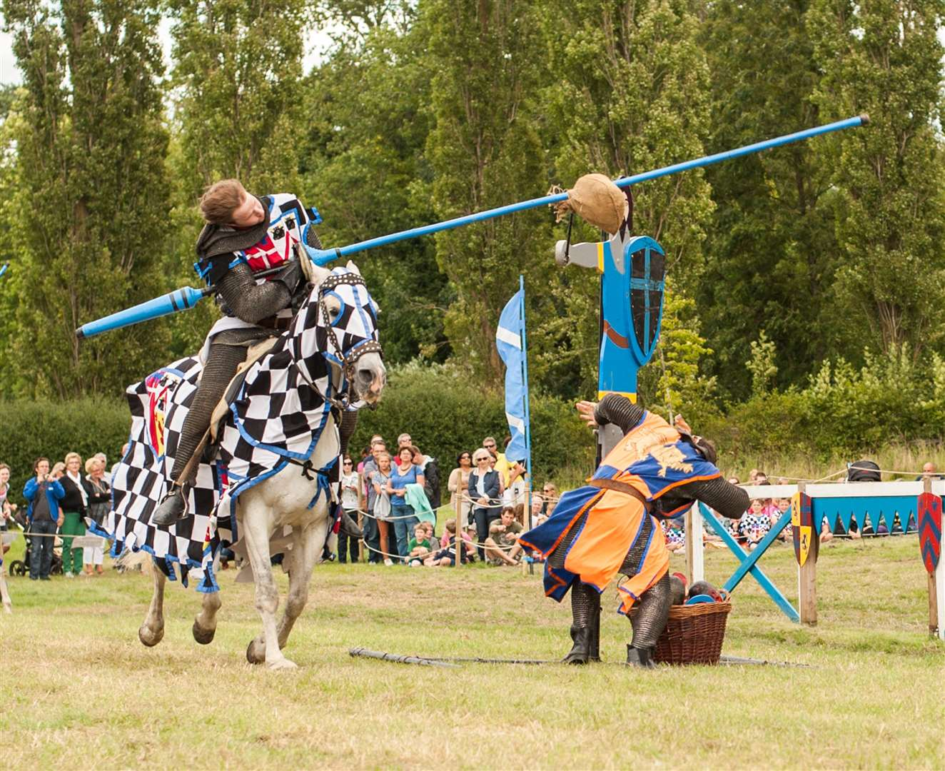 Jousting at Hever Castle is back at weekends his summer