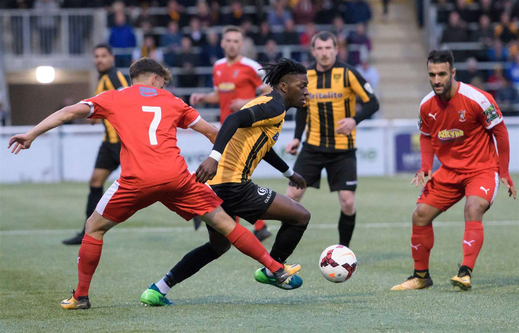 Andre Coker in action for Maidstone Picture: Andy Payton